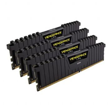 Corsair Vengeance LPX 64GB Kit (4 x 16GB), DDR4, 2666MHz (PC4-21300)